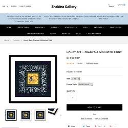 Honey Bee - Framed & Mounted Print – Shabina Gallery