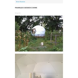 Frameless Geodesic Dome