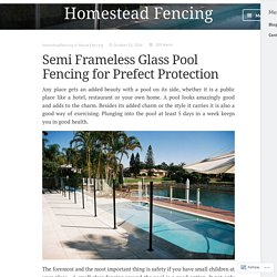 Semi Frameless Glass Pool Fencing for Prefect Protection – Homestead Fencing