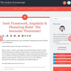 Ionic Framework, Angularjs & PhoneGap Build