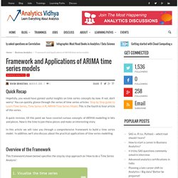 Framework And Applications Of ARIMA Time Series Models