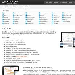 jQuery, JavaScript and HTML5 Plugins - jQuery Grid, jQuery DataGrid, Menu, jQuery Calendar, jQuery DateTimeInput, jQuery NumberInput, jQuery Vertical Menu, jQuery Context Menu, jQuery ListBox, jQuery DropDownList, jQuery TextBox, jQuery Button, jQuery Lin