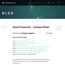 Robot Framework - Compact Sheet - codecentric Blog : codecentric Blog