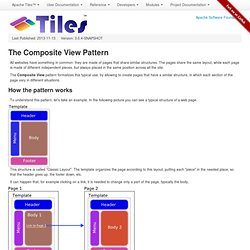 The Composite View Pattern