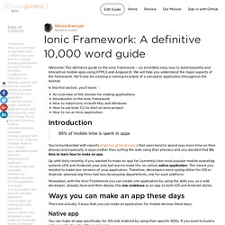 Ionic Framework: A definitive 10,000 word guide