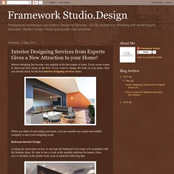 Framework Studio.Design: Interior Designing Services from Experts Gives a New Attraction to your Home!