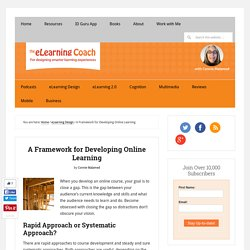 A Framework for Developing Online Learning