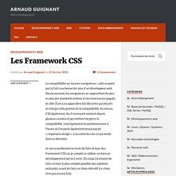 Les Framework CSS : utilité et solutions disponibles