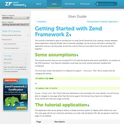 Getting Started with Zend Framework 2 — Zend Framework 2 2.0.7 documentation