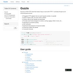 PHP HTTP client and framework for consuming RESTful web services — Guzzle documentation