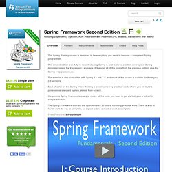 Spring Framework Fundamentals (DVD ROM Edition) Online Training Course