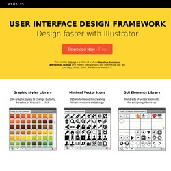 GUI Design Framework - Free Vector Icons, GUI elements for Web Designers