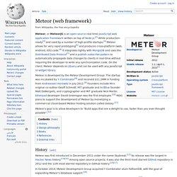 Meteor (web framework)