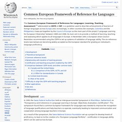 EU Framework of Reference for Languages