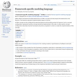 Framework-specific modeling language