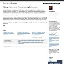 A Design Framework for Personal Learning Environments
