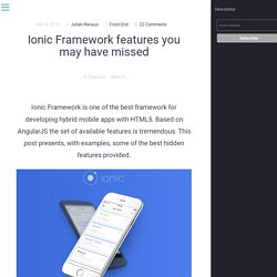 Ionic Framework features you may have missed