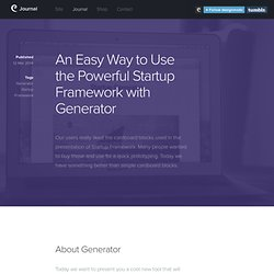 An Easy Way to Use the Powerful Startup Framework with Generator - Designmodo Journal