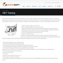 best dot net framework and dot net training institute Bangalore
