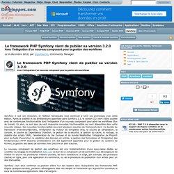Le framework PHP Symfony vient de publier sa version 3.2.0, avec l'intégration d'un nouveau composant pour la gestion des workflows