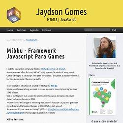 Mibbu – Framework Javascript para Games | Jaydson
