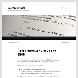 Robot Framework, REST and JSON