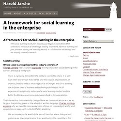 A framework for social learning in the enterpris