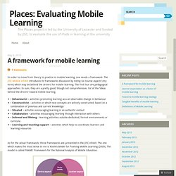 Places: Evaluating Mobile Learning
