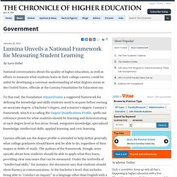 Lumina Unveils a National Framework for Measuring Student Learning - Government