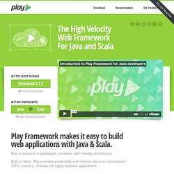 Play framework - Home