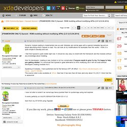 [FRAMEWORK ONLY!] Xposed - ROM modding without modifying APKs (2.3.1)(10.10.2013) - Page 2