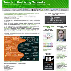 New framework: 2013 and beyond - What will appear and disappear in our lives | Trends in the Living NetworksTrends in the Living Networks