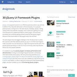 30 jQuery UI Framework Plugins