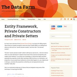 Entity Framework, Private Constructors and Private Setters