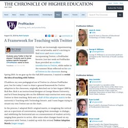 A Framework for Teaching with Twitter