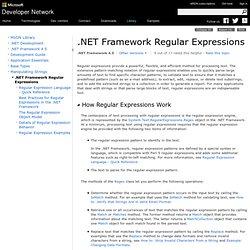 .NET Framework Regular Expressions