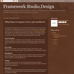 Framework Studio.Design: What does it require to be a 3D Architect?