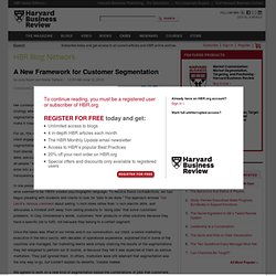 A New Framework for Customer Segmentation - Judy Bayer and Marie Taillard