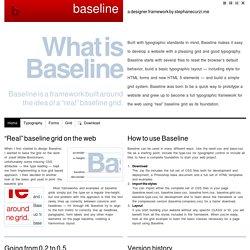 Baseline - a designer framework by ProjetUrbain.com