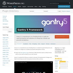 Gantry 5 Framework — WordPress Plugins