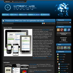Cr@zy's Website - 7 frameworks HTML5 pour créer une application web mobile