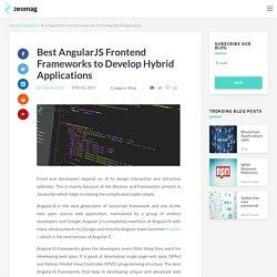 Best AngularJS Frontend Frameworks to Develop Hybrid Applications