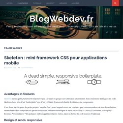 Frameworks Archives - BlogWebdev.fr