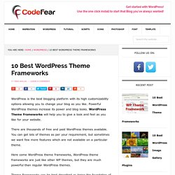 10 Best WordPress Theme Frameworks Fast and Customizable