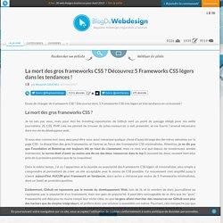 La mort des gros frameworks CSS ? Découvrez 5 Frameworks CSS légers dans les tendances !