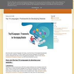 Top 10 Languages / Frameworks for Developing Website