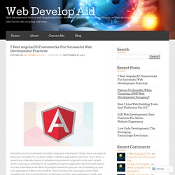 7 Best AngularJS Frameworks For Successful Web Development Practices « Web Develop Aid