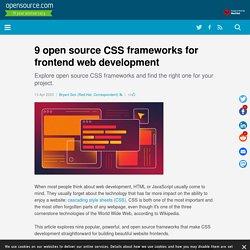 9 open source CSS frameworks for frontend web development