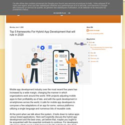 Digital Marketing: Top 5 frameworks For Hybrid App Development that will rule in 2020