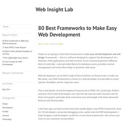 80 Best Frameworks to Make Easy Web Development